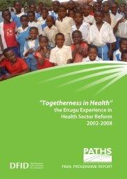 PATHS Final programme report: