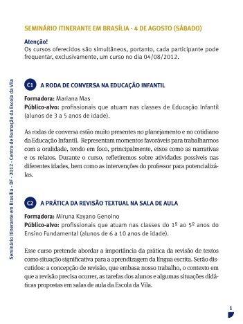 Cursos - Escola da Vila