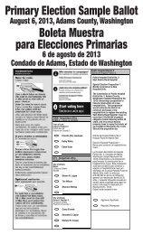 Primary Election Sample Ballot Boleta Muestra para Elecciones ...