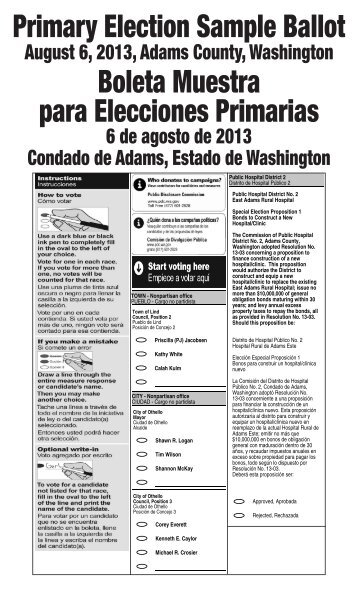 SAMPLE BALLOT (BOLETA DE MUESTRA) - Dallas County Elections