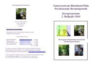 Tumorzentrum Rheinland-Pfalz Psychosoziale Beratungsstelle ...