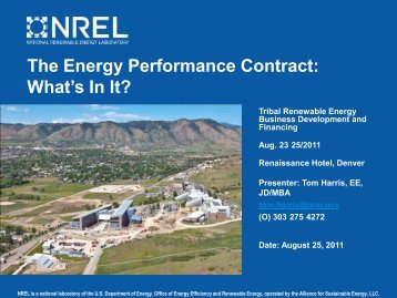 The Energy Performance Contract: What's In It? - EERE - U.S. ...