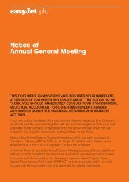 AGM 2009 Notice and Circular - easyJet plc