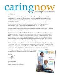 Alberta Continuing Care Association Alberta Continuing Care ...