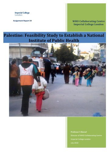 Palestine: Feasibility Study to Establish a National Institute of Public ...