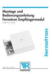 Montage und Bedienungsanleitung Fernotron ... - Antriebe 24