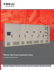 TMdrive®-10e2 Product Application Guide - Tmeic.com