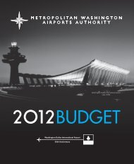 budget for aviation and dulles corridor enterprise funds