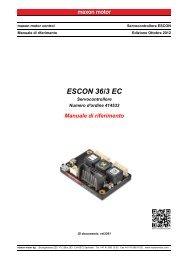 ESCON 36/3 EC Manuale di riferimento - Maxon Motor ag