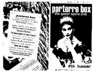 Scandale! - Parterre Box