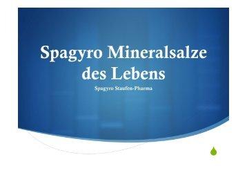 Spagyro Schüßler Salze - Spagyrik nach Zimpel