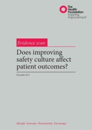 Does improving safety culture affect patient outcomes? - Health ...