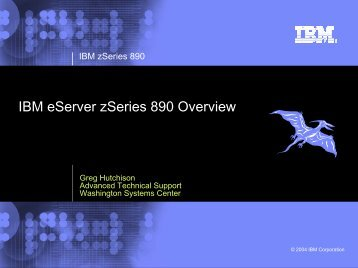 IBM eServer zSeries 890 Overview - Individual CMG Regions and ...