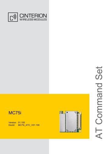 MC75i AT Command Set - RCC ITALY