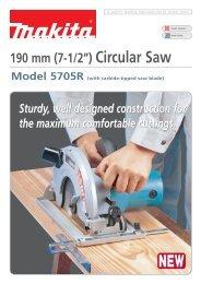 """190 mm (7-1/2"""") Circular Saw - Makita"""