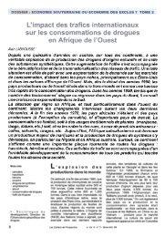 Alain LABROUSSE 1 Depuis une quinzaine d'années on assiste ...