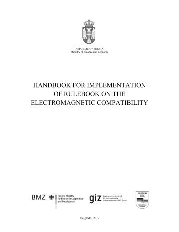 handbook for implementation of rulebook on the electromagnetic ...