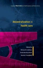 Decentralization in health care - World Health Organization ...