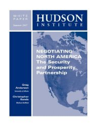 Negotiating North America: The Security and ... - Hudson Institute