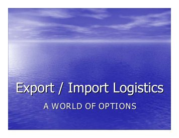 Export / Import Logistics - staging.files.cms.plus.com
