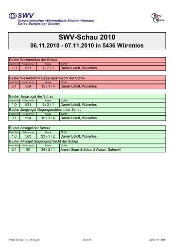 Rangliste der SWV-Schau 2010 als PDF-File