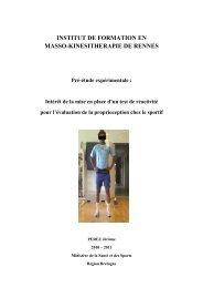 INSTITUT DE FORMATION EN MASSO-KINESITHERAPIE ... - myotest