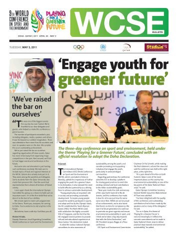 'Engage youth for - WCSE | The 9th World Conference on Sport and ...
