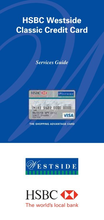 HSBC Westside Classic Credit Card