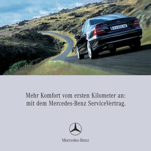 Mehr Komfort vom ersten Kilometer an: mit dem Mercedes-Benz ...
