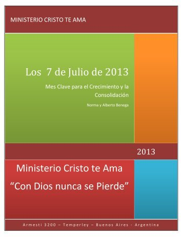 Los 7 de Julio de 2013 - Ministerio Cristo te Ama
