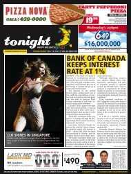 bank of canada keeps interest rate at 1% - tonight Newspaper