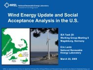 Wind Energy Update and Social Acceptance Analysis in the United ...