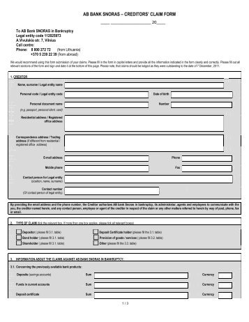 Claim Form In Pdf. Sample Travel Insurance Claim Forms - 8+ Free ...