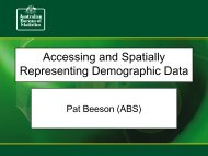 Accessing and Spatially Representing Demographic Data