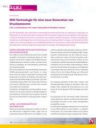 MID-Technologie für eine neue Generation von Drucksensoren