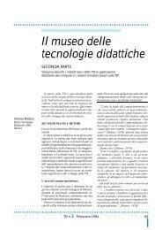 Il museo delle tecnologie didattiche - TD Tecnologie Didattiche - Cnr