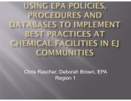 Using EPA Policies, Procedures, and Databases to Implement Best ...