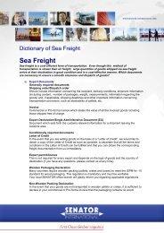 Download here the sea freight directory - Senator International