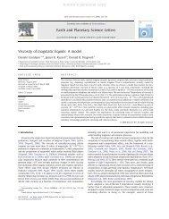 Viscosity of magmatic liquids - ResearchGate