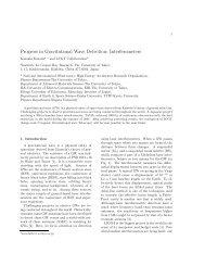 Progress in Gravitational Wave Detection: Interferometers