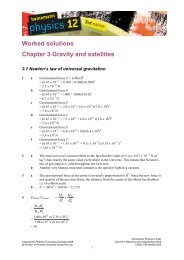 Worked solutions Chapter 3 Gravity and satellites - PEGSnet