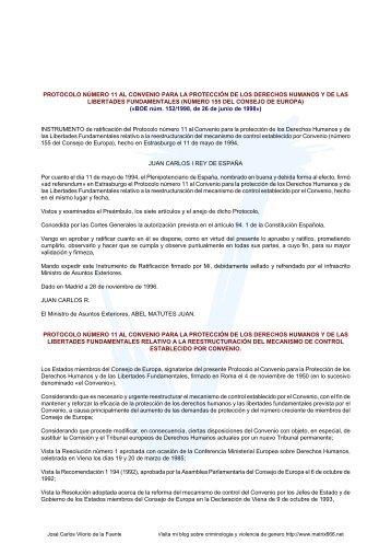 Protocolo Adicional número 1 del Convenio Europeo para - Matrix666