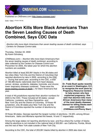 Abortion Kills More Black Americans Than the Seven Leading ...