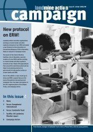 Campaign 8-New Protocol on ERW - Landmine Action