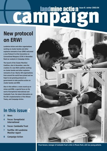 Campaign 8-New Protocol on ERW - Landmine Action