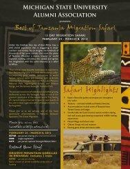 Safari Highlights - MSU Alumni Association - Michigan State University