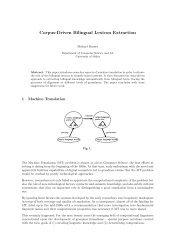 Corpus-Driven Bilingual Lexicon Extraction - University of Malta