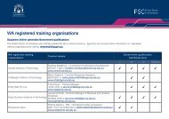 WA registered training organisations - Public Sector Commission