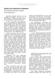 Shiatsu bei seelischen Problemen von Wilfried ... - Shiatsu-Netz