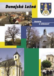 História - Obec Dunajská Lužná